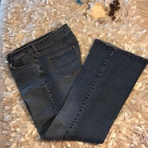 Jeans flared low rise